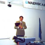 John Platanias of APG Hellas, the general sales agent in Greece for Maersk Air, said the airline selected the new Athens airport to celebrate Maersk's first anniversary of scheduled flights to Greece.