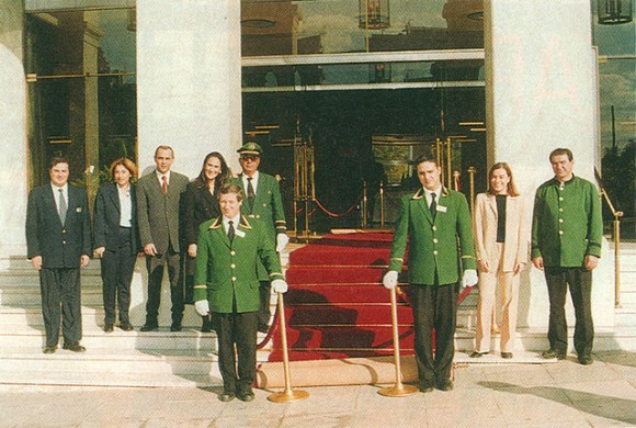 Grande Bretagne's staff in late November rolled out the red carpet for the last time. The traditional Athenian hotel closed for renovations until early in 2003.