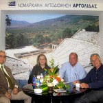 Petros Koutsopoulos (Palladion boutique hotel); Efi Chroni (Argolida prefecture); Yannis Rozos (Best Western Rozos Hotel); and Athanasios Miras (Marialena hotel-apartments) discussed to the global economic crisis at the stand of the Argolida prefecture. Mr. Rozos told GTP that the crisis has not struck Porto Heli at the moment as bookings have risen some 10 percent compared with last year. Argolida representatives, however, claim that the crisis has struck Argolida but on a small scale for the time being.