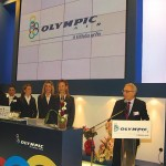 During the inauguration ceremony of Olympic Air's stand (left), general commercial director, Stavros Daliakas, announced that the airline's subsidiary Macedonian Airlines should begin flights from Thessaloniki as of 1 April 2010.