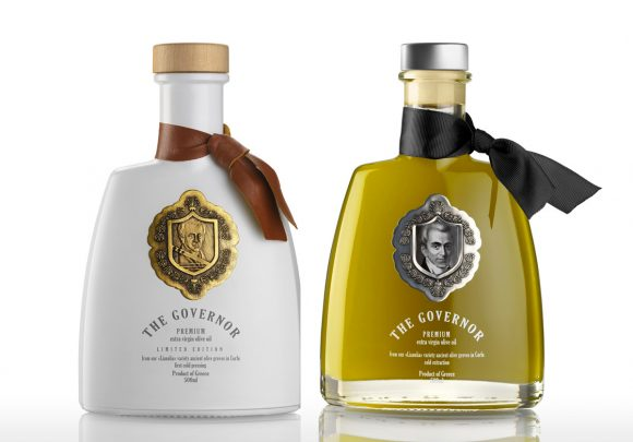 The Governor - Premium extra virgin olive oil. Branding by Dasc Branding Athens.