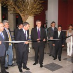 GNTO president, Nikolas Kanellopoulos cuts the ribbon at the inauguration ceremony of the 15th Touristiko Panrorama.