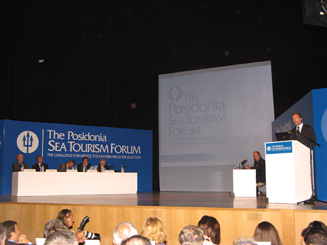 Culture and Tourism Minister Pavlos Geroulanos opened the first Posidonia Sea Tourism Forum held at the Onassis Cultural Center in Athens on 21-22 June.