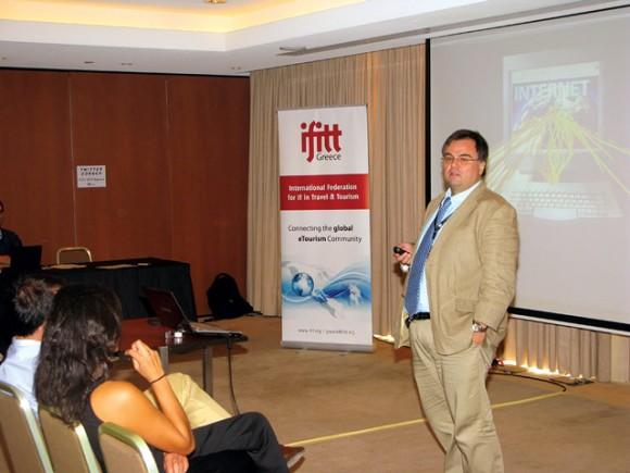 During IFITT Greece's inaugural event, Professor Dimitrios Buhalis, chairman of IFITT International, presented a series of technological innovations that promote tourism and referred to developments in research and worldwide trends in the tourism industry.