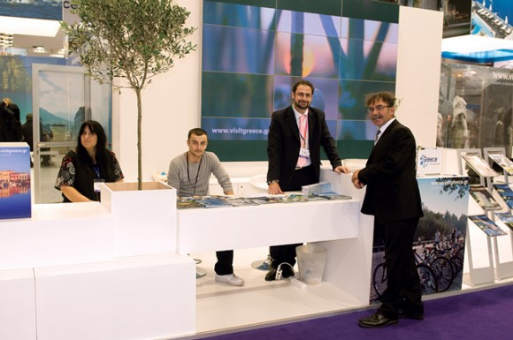 Kyriakos Liolios, information officer for Greek National Tourism Organization in London, was on call at the GNTO's pavilion at the WTM. The pavilion included 24 Greek exhibitors and was said to have attracted considerable interest.