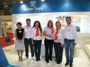 Travel company Beleon Tours' team: Anna Karasavidou, accounting department; Alexandros Poursanidis, creative department; Maria Onoufriadou, incoming Chalkidiki, Corfu; Eleni Tsatidou, incoming Rodos, Kos, Crete; Chrissa Maroglou, ticketing and outgoing department; and Ioannis Alesandridis, IT department. Beleon had many one-day trip Christmas offers to Greek destinations and weekend packages to Bansko, Bulgaria, at very attractive prices.