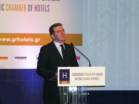 """You are all talk and no action,"" hoteliers from the audience screamed when Development, Competitiveness and Shipping Minister Michalis Chrysochoidis delivered a speech at the Hellenic Chamber of Hotels' first general meeting. Greek hoteliers booed Mr. Chrysochoidis in an act of protest to government policies about hotel businesses."