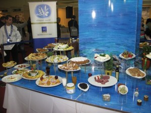 """The """"Greek Breakfast"""" section at this year's HO.RE.CA. displayed breakfast options with recipes and products from various Greek regions. """"We hope that Greek Breakfast will be established at Greek hotels, that there will be a connection with the primary sector and, at the same time, with society,"""" president of the Hellenic Chamber of Hotels, Yiorgos Tsakiris, said."""
