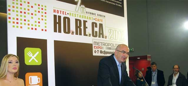 """""""I think this year's HO.RE.CA. is perhaps the most important 'message' we have heard, saw and felt this year as tourism industry representatives,"""" President of the Hellenic Chamber of Hotels, Giorgos Tsakiris, said during the inauguration ceremony of the 7th HO.RE.CA.. Mr. Tsakiris said he was """"speechless"""" and very impressed by the high number of visitors that attended the trade show."""