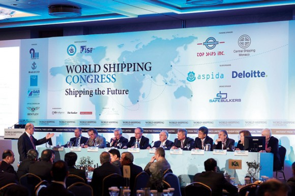 The World Shipping Congress,held at the Divani Apollon Palace in Kavouri, was organized by the Financial Times and Boussias Communications and held under the auspices of the International Chamber of Shipping and the International Shipping Federation.