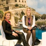 CEO of Bluegr Mamidakis Hotels, Gina Mamidakis, with the product manager of L'TUR Urlaub & Last Minute, Maren Schloesser.