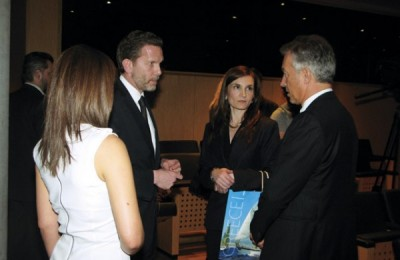 "Culture and Tourism Minister Pavlos Yeroulanos (left) and SETE's President Andreas Andreadis discuss tourism issues at a recent event in Athens. Over the past few months, Mr. Yeroulanos was in constant consultations with tourism professionals on the creation of the ""Marketing Greece"" company, which is expected to be a useful tool for the country."