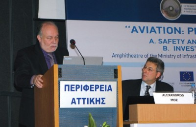 "During the seventh ""Aviation: Present and Future"" conference, Sergios Labropoulos, from the Transport Ministry, extensively mentioned the Kasteli Airport concession for which an open procedure tender had been launched and, after several postponements, was unsuccessful. The initial plan was for Kasteli Airport to replace the existing Heraklio Airport ""Nikos Kazantzakis"" by summer 2015 and operate on the standards of Athens International Airport with the state holding a 55 percent stake. (Key tourism industry sectors such as the Association of Greek Tourism Enterprises and the Hellenic Association of Airlines Representatives had expressed their opposition to the plan due to the high costs involved.)"