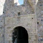 The entrance of the castle