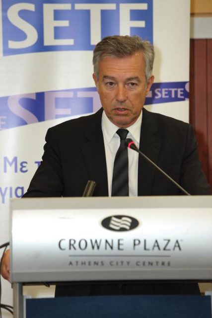 Association of Greek Tourism Enterprises President Andreas Andreadis at SETE's 20th General Assembly.