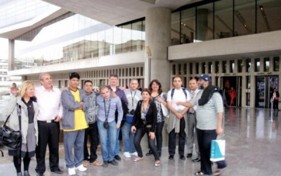 Tour operators and journalists from Kuwait at the New Acropolis Museum during a fam trip in May 2012 organized by the Hellenic Association of Travel & Tourist Agencies (HATTA).