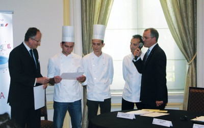 Sofitel award ceremony at the French Embassy in Athens.