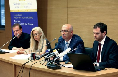 Studies on medical tourism and senior tourism will be released in September by the Institute for Tourism Research and Forecasts (ITEP), the president of the Hellenic Chamber of Hotels, Yiorgos Tsakiris (third from left), told the press.