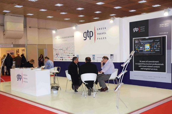 GTP continued tradition at Philoxenia with yet another new and modern stand but this time with a completely new look. GTP's new corporate identity marks the beginning of a new creative course, which will rely on four pillars: comprehensive and accurate information, the empowerment of ties with and among travel professionals, the promotion of the comparative advantages of Greece and the enhancement of efforts distinguished by vision and passion.