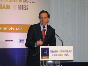 In November 2011, while representing the main opposition of the Greek Government, today's Prime Minister Antonis Samaras made promises to a room full of hoteliers at the Hellenic Chamber of Hotels' first general meeting.
