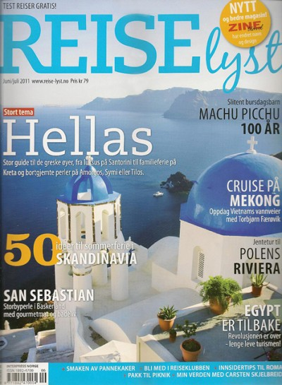Promotional activities of the Cyclades Development Company include a steady presence of the island group in Norway's printed media.