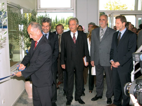 Ribbon-cutting ceremony of the new AIMS headquarters in Athens.