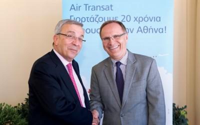 TourGreece's Chairman Vasilis Sakellaris and Canadian Ambassador to Greece Robert Peck.