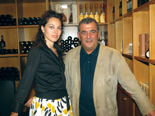 Oenologist Chrissa Giatra and Costas Lazaridis.