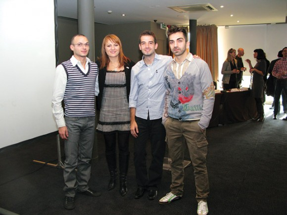 Organizers of the gay tourism conference held at the Les Lazaristes hotel in Thessaloniki.
