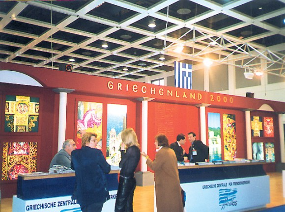 The Hellenic Tourism Organization's pavilion proved to be one of the most popular stops for German visitors to ITB tourism fair.