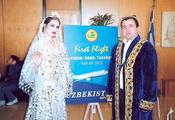 Uzbekistan Airways inaugurates its new Athens-Rome-Tashkent flight.