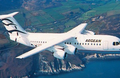 Aegean Airlines announced that it was about to add two more four-engine Avro RJ 100 turbo-prop passenger aircraft to its fleet.