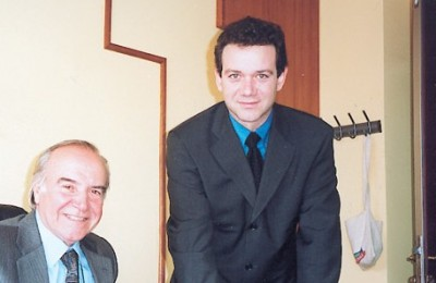 Konstantinos Mitsiou, Amphitrion's chairman, with his new professional manager, Nikos Gazelides.