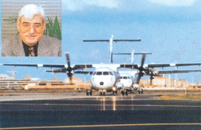Kostas Badouvas (insert), the formar chairman of Air Greece creates the new airline, Cretan Airways