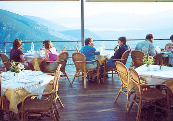 Epicuros restaurant in Delphi offers an atmosphere second-to-none in the area.