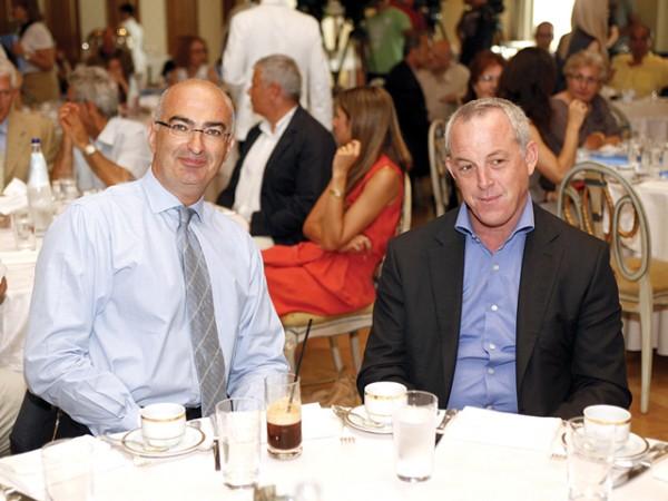 Hellenic Chamber of Hotels President Yiorgos Tsakiris and Greek National Tourism Organization Secretary General Yiorgos Koletsos.