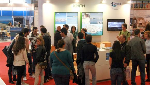 Crete's pavilion once again showcased the island's four prefectures -Chania, Heraklio, Lassithi and Rethymno- and attracted many potential visitors.