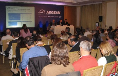 Aegean Airlines held a press conference today after announcing on 22 October that it intended to acquire former Greek flag carrier Olympic Air.