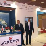 Agoudimos Lines' sales and marketing manager, George Roumeliotis, with the shipping company's sales department representative, Manolis Chinakis.