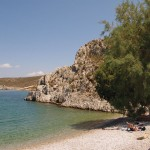 Akti - A quiet beach with fine sand and crystal blue waters located near the road leading to the valley of Vathi.