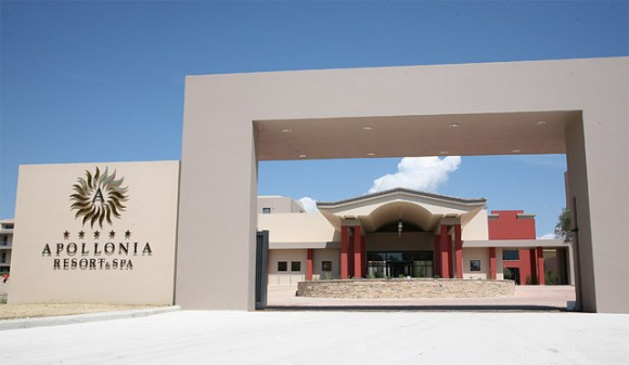 The impressive main entrance at new five-star Apollonia Resort & Spa.