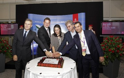 From left: Yiannis Paraschis, AIA General Manager; Richard Jewsbury, Emirates senior vice president commercial operations Europe and Russian Federation; Olga Kefalogianni, Greek tourism minister; Nikos Stathopoulos, Greek secretary general of Transport; and Mohammad Sarhan, Emirates Area Manager Greece., said.