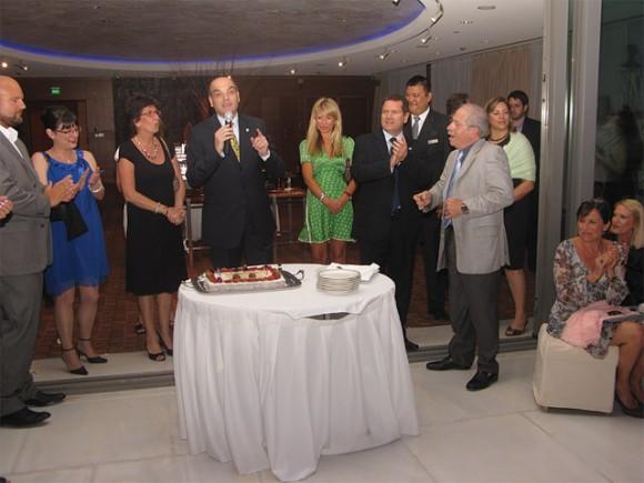 George Zermas, sales manager for Greece for Air France/KLM, welcomed SkyTeam guests and thanked them for their presence and support to the airline alliance over the past 10 years.