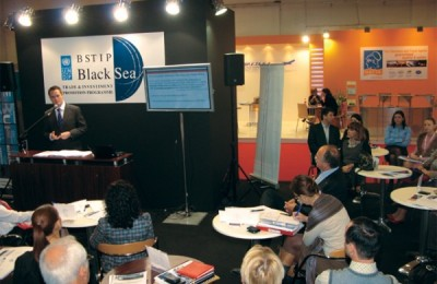 """The first international forum """"ARGO: The first Black Sea Partnership Forum for Tourism and Travel Operators"""" during Philoxenia 2010."""
