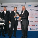 Heronia Travel was honored for best outgoing tourism brochure. Efthimios Trentzos accepted the award.