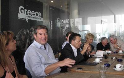 Nikos Karahalios, secretary general of the Greek National Tourism Organization, during a media briefing on Tuesday, 2 October.