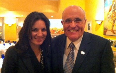 Greek Tourism Minister Olga Kefalogianni and former New York Mayor Rudolph Giuliani.