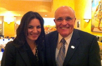 Greek Tourism Minister Olga Kefalogianni and former New York Mayor Rudolph Giuliani.