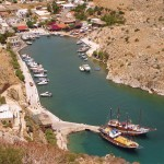 Vathy or Rina village and port lies on the east side of Kalymnos island.
