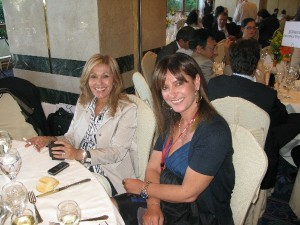 2008 - Tourism needs PR! Margarita Zambeli together with Aegean Airline's PR Manager Roula Saloutsi at a tourism event.